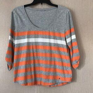 Tommy Hilfiger 3/4 length striped shirt.